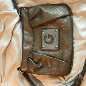 bronze guess off the shoulder purse
